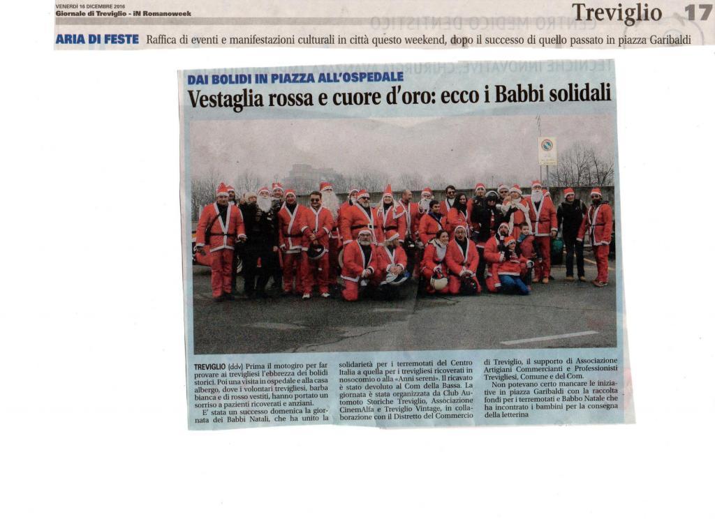 """""""Il Giorno di Babbo Natale 2016"""" – Rassegna stampa"""