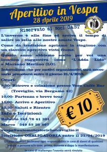 Aperitivo in Vespa @ Marzano Merlino (LO), ritrovo a Treviglio (BG)