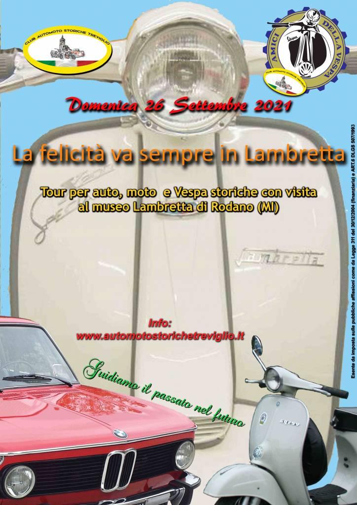 La felicità va sempre in Lambretta